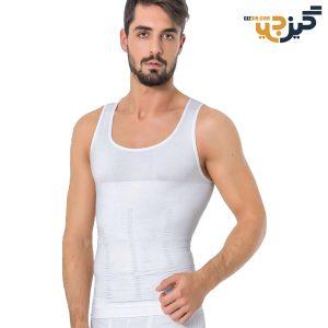 گن لاغری مردانه رکابی fit سفید کد:u107-2