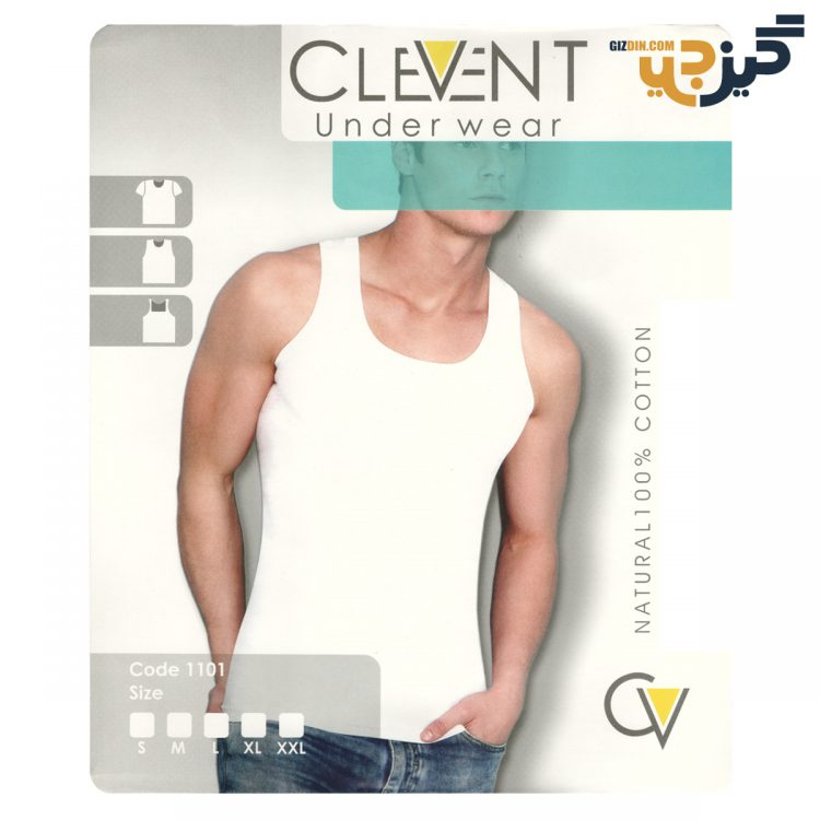 زیرپوش مردانه رکابی clevent نخ 100% کد :u104