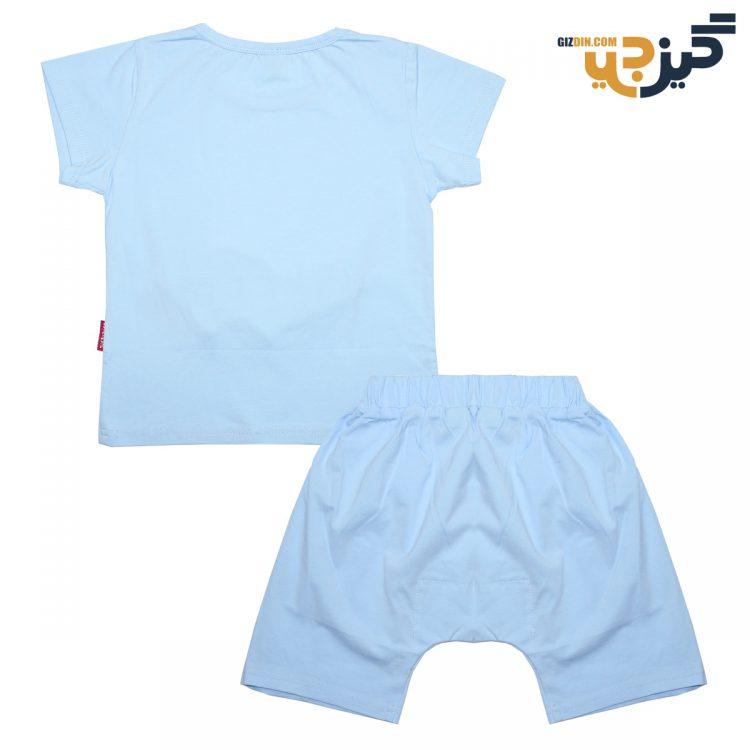 تیشرت و شلوارک طرح لاکپشت آبی کد :ch101-3