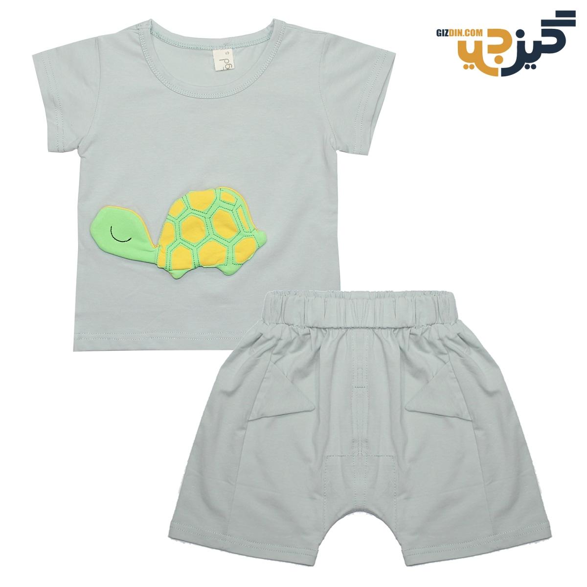 تیشرت و شلوارک طرح لاکپشت سدری کد :ch101-2