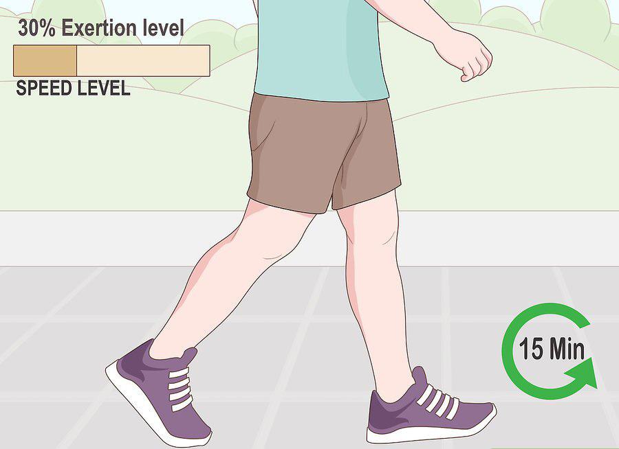 15 دقیقه پیاده روی آرام بعد از غذا خوردن می تواند مناسب باشد