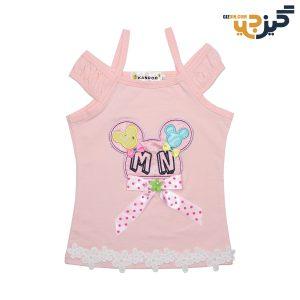 تاپ نخی دخترانه طرح میکی صورتی کد: ch104-2