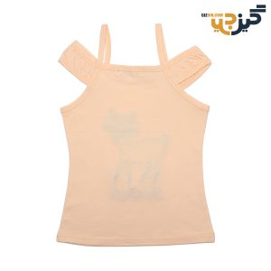 تاپ نخی دخترانه طرح آهو نارنجی کد: ch103-3