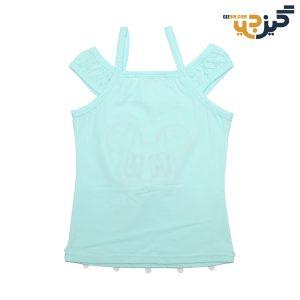 تاپ نخی دخترانه طرح میکی سبز کد: ch104-3