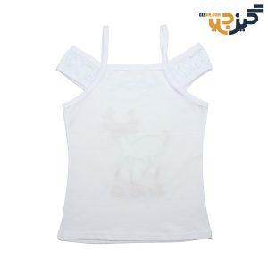 تاپ نخی دخترانه طرح آهو سفید کد: ch103-1