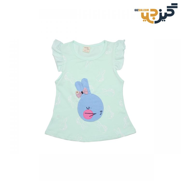 تیشرت و شلوارک طرح خرگوش سبز تکه دروزی کد:ch106-2