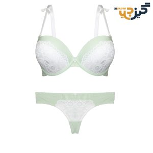 ست لباس زیر نخی سبز پانیذ 28026 کد :s169-9