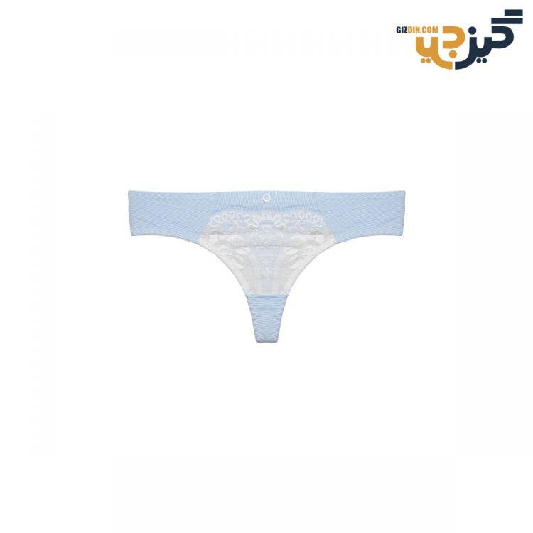 ست لباس زیر نخی آبی پانیذ 28026 کد :s169-8