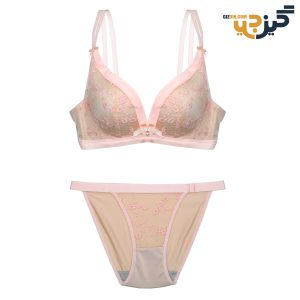 ست لباس زیر طرح ویکتوریا سیکرت گلبهی کد :s168-1