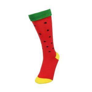 جوراب قرمز طرح هندوانه شب یلدایی زیر زانو کد:sow145-2509-2