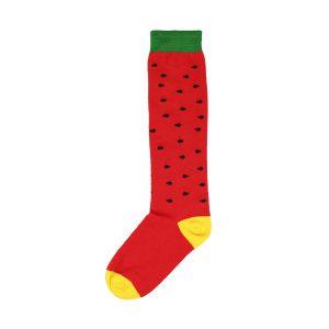 جوراب قرمز طرح هندوانه شب یلدایی زیر زانو کد:sow145-2