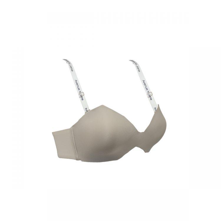نیمرخ سوتین ست لباس زیر کرم کاپ مثلثی کد:s289-1