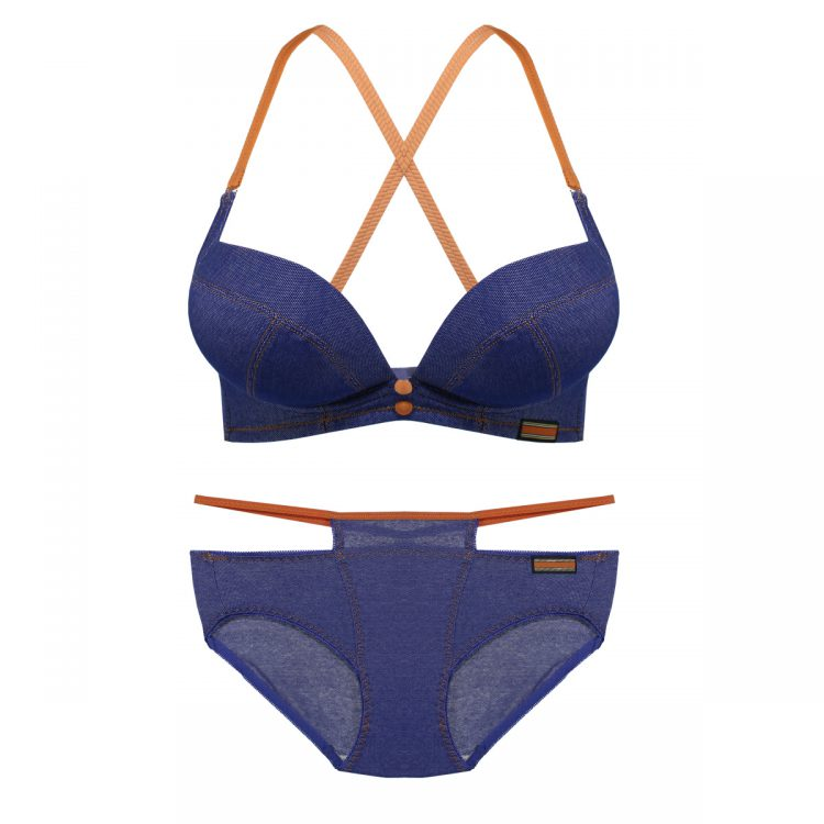 ست اسفنجی جین آبی دخترانه کد:s326