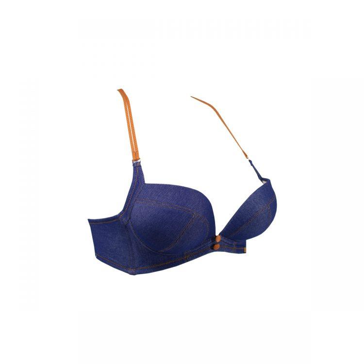نیمرخ سوتین ست اسفنجی جین آبی دخترانه کد:s326