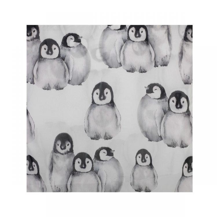 شال حریر طرح پنگوئن کد:R101-8