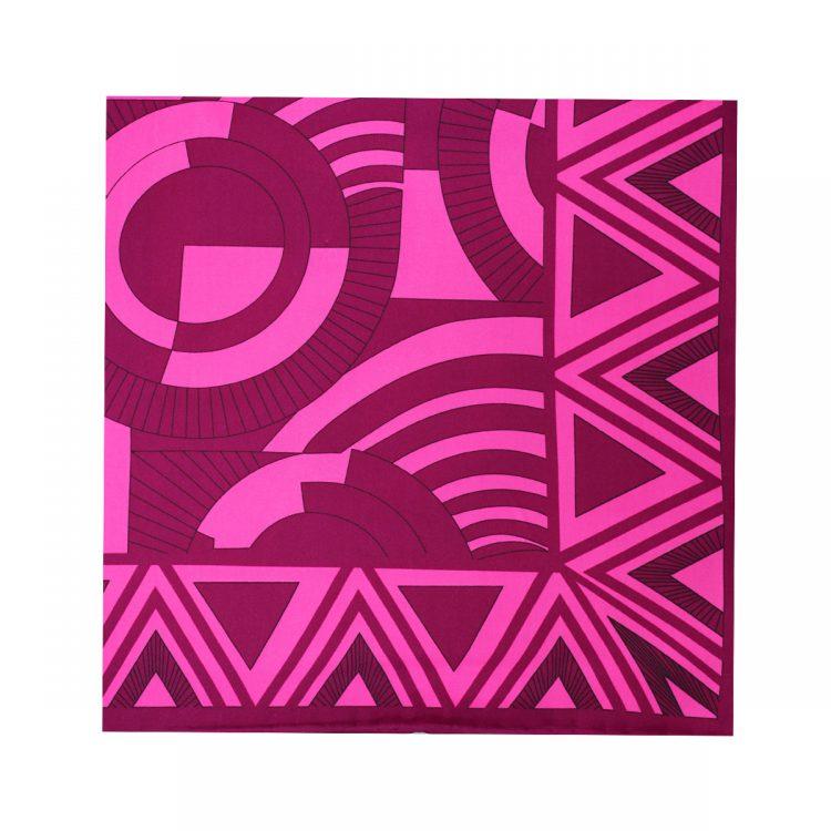 روسری نخی سرخابی طرح هندسی کد:R106-5