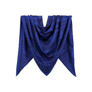 روسری نخی سرمه ای طرح هندسی کد:R106-2R3-4