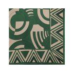 روسری نخی سبز طرح هندسی کد:R106-3