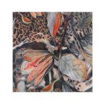 شال سوپر نخ طرح گلدار پلنگی کد:R102-3