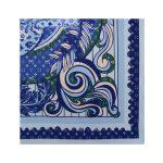 روسری نخی آبی طرح LV کد:R106-7