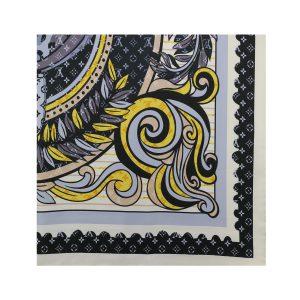 روسری نخی مشکی طرح LV کد:R106-8