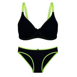 ست نخی راحتی سبز سرمه ای برند Torpheh مدل ۵۰۳ کد:s304-3674-13