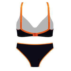 پشت ست نخی راحتی نارنجی سرمه ای برند Torpheh مدل 503 کد:s304-2