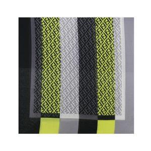 شال نخی زرد طرح Fendi کد:R103-4