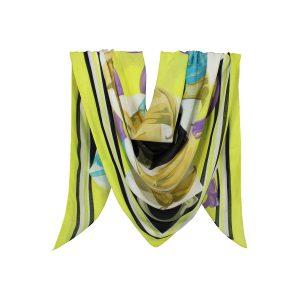 روسری نخی زرد گلدار کد:R104-5R7-18
