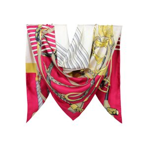 روسری توییل قرمز طرح GUCCI کد:R107-3R8-10
