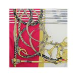 روسری توییل قرمز طرح GUCCI کد:R107-3