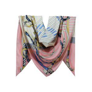 روسری توییل صورتی طرح GUCCI کد:R107-2R8-6