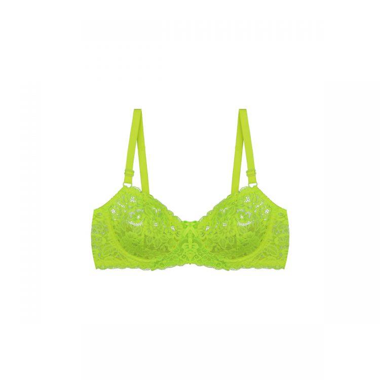 سوتین ست لباس زیر سبز فسفری توری برند BENITA کد:s364-3