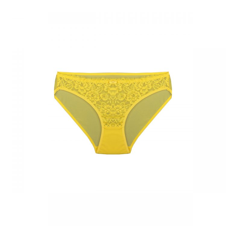 شورت ست لباس زیر زرد توری برند BENITA کد:s364-6