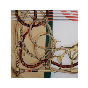 روسری توییل طلایی طرح GUCCI کد:R107-4