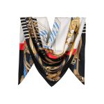 روسری توییل مشکی طرح GUCCI کد:R107-5