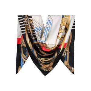 روسری توییل مشکی طرح GUCCI کد:R107-5R8-17