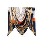 روسری توییل سرمه ای طرح GUCCI کد:R107-6