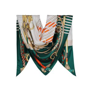 روسری توییل سبز طرح GUCCI کد:R107-7R8-25