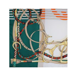 روسری توییل سبز طرح GUCCI کد:R107-7