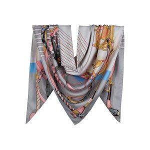 روسری توییل طوسی طرح GUCCI کد:R107-8R8-29