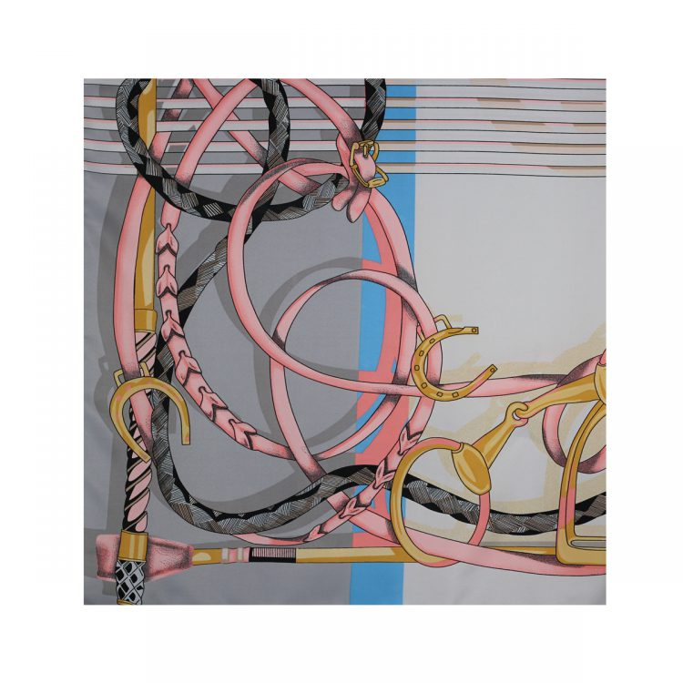 روسری توییل طوسی طرح GUCCI کد:R107-8