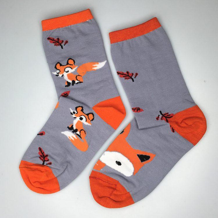 جوراب طرح روباه زنانه ساق دار کد:sow153-3