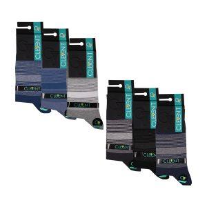 جوراب مردانه ۱-۱۰۲ ساق دار بسته ۶ عددی برند CLEVENT کد:som102-1711-1