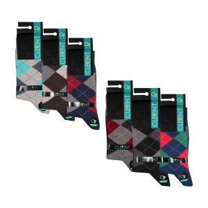 جوراب مردانه ۲-۱۰۲ ساق دار بسته ۶ عددی برند CLEVENT کد:som102-2712-1