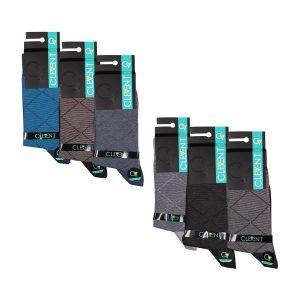 جوراب مردانه ۴-۱۰۲ ساق دار بسته ۶ عددی برند CLEVENT کد:som102-4714-1