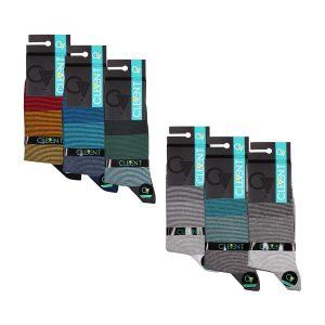جوراب مردانه ۵-۱۰۲ ساق دار بسته ۶ عددی برند CLEVENT کد:som102-5715-1