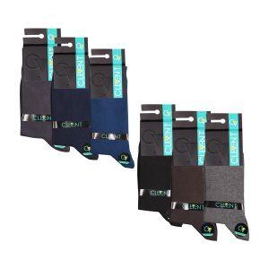جوراب مردانه ۷-۱۰۲ ساق دار بسته ۶ عددی برند CLEVENT کد:som102-7717-1
