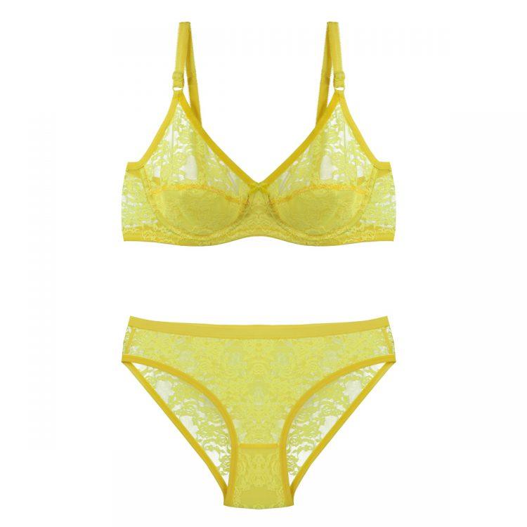 ست توری زرد بدن نما برند B&D کد:s369-4
