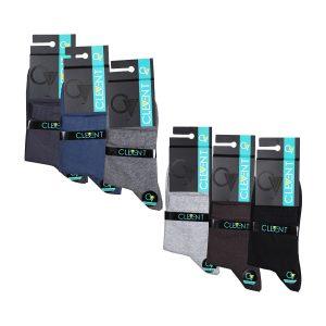 جوراب مردانه ۱-۱۰۱ نیم ساق بسته ۶ عددی برند CLEVENT کد:som101-1772-1